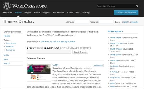 WordPress.org - Themes Repository