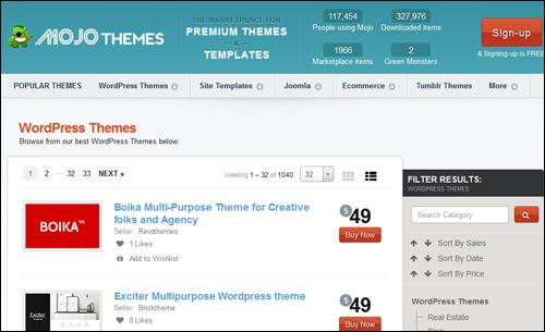 Mojo Themes - WP Theme Directory