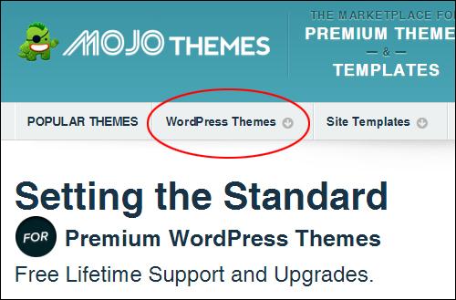Mojo WordPress themes marketplace