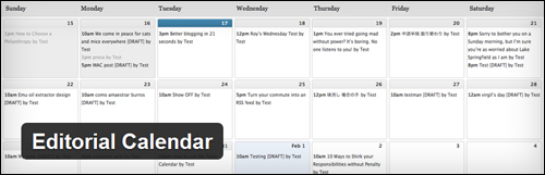 Editorial Calendar - WordPress Editorial