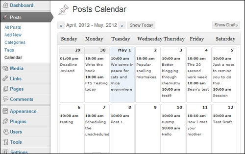 Editorial Calendar - Editorial Plugin For WordPress