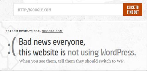 Is It WordPress? - WordPress Checking Tool